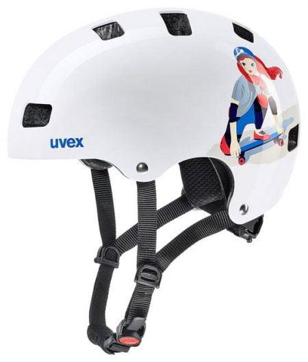 Casca Uvex Kid 3 white skate 1