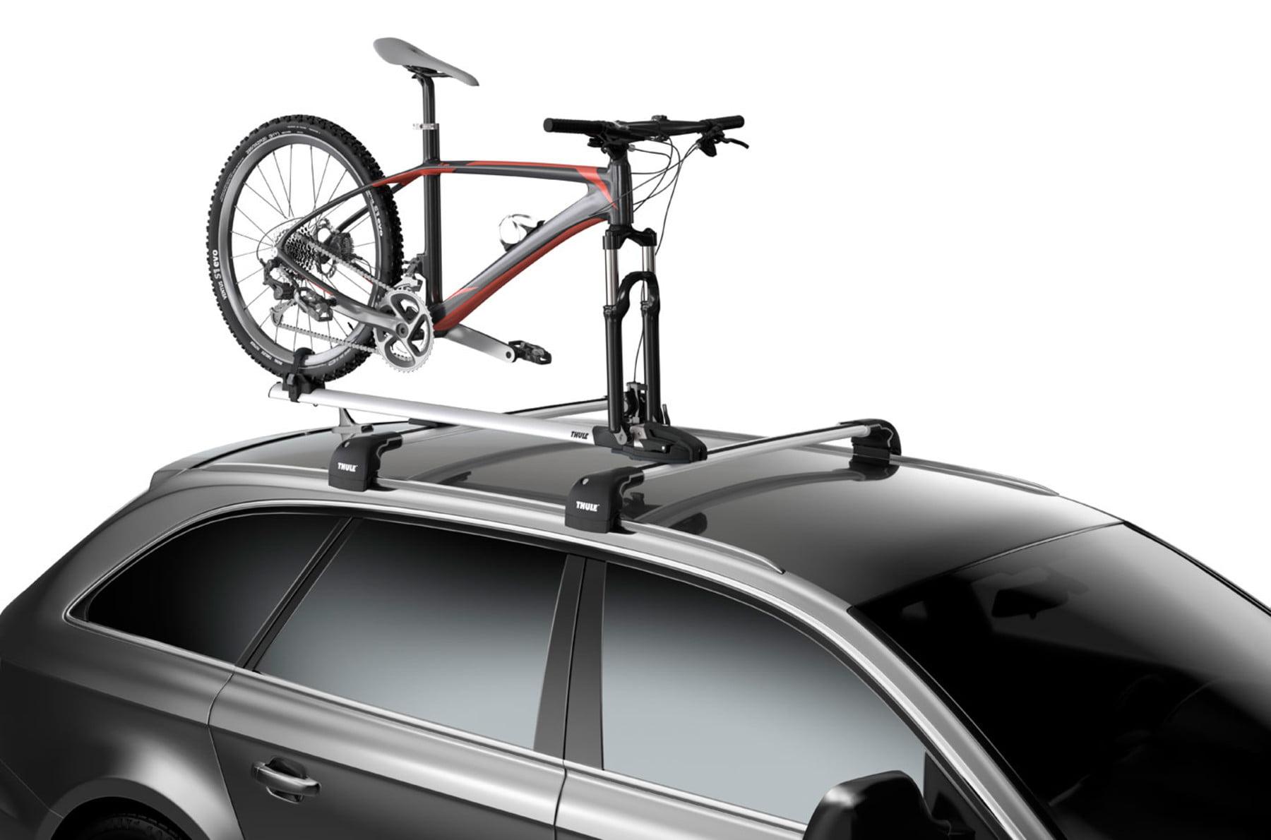 Suport biciclete Thule ThruRide 565 cu prindere pe bare transversale 2