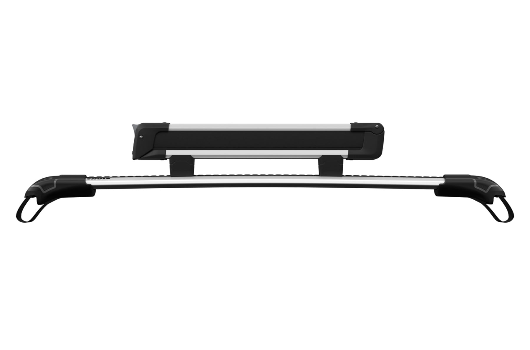 Suport schiuri Thule SnowPack 7324 cu prindere pe bare transversale din aluminiu cu profil T 5